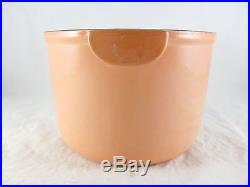 Le Creuset Enzo Mari Peach Cast Iron Enamel Fondue Pot, vtg