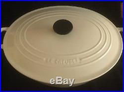 Le Creuset France Cast Iron Enamel White #35 Dutch Oven withLid