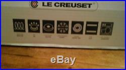 Le Creuset France Cast Iron Round 3.5 Quart Braiser Cherry (mist gray) NIB