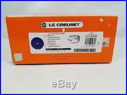 Le Creuset France Round 3.5 Quart Risotto Pot Oven Cast Iron Lapis Blue NEW