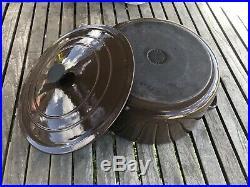 Le Creuset G 7.25 Quart Qt Round Dutch Oven Solid Brown France
