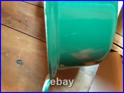 Le Creuset Green Duck Shaped Cast Enamel Dutch Oven Very Rare in this color