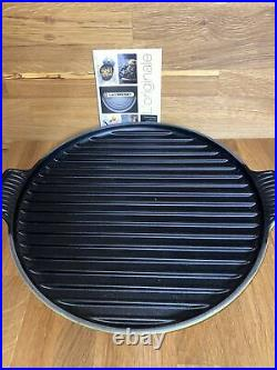 Le Creuset PALM Bistro Pan Grill Enameled Cast Iron Cookware New Open Box