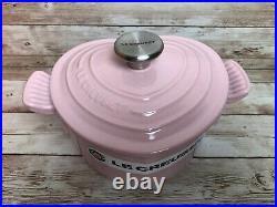 Le Creuset Pink Heart Shaped Casserole and Pink Heart Petite Ramekin Stoneware