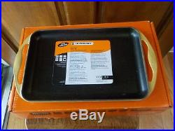 Le Creuset QUINCE Yellow Enameled Cast Iron Griddle Rectangular Skinny In Box