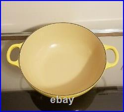 Le Creuset RARE 4.5 Qt Yellow Cast Iron Dutch Oven Pot #26 NEW