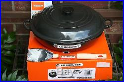 Le Creuset RARE 5 Qt Braiser #32 Cast Iron MIDNIGHT GREY black With SILICON