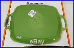 Le Creuset Rectangular Shallow Grill Fish Platter Signature Palm Green NIB