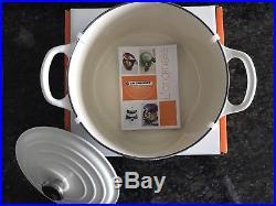 Le Creuset Round 3.5qt Dutch Oven In Cotton/Matte White