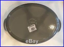 Le Creuset SIGNATURE CAST IRON MATTE OVAL DUTCH OVEN 9 1/2 QtFrench GreyNWOB