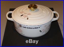 Le Creuset Sakura Round Dutch Oven 2 3/4 Qt #20 White