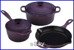 Le Creuset Signature 5-Piece Cast Iron Cookware Set, Cassis Kitchen