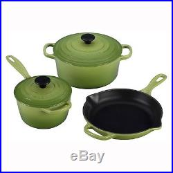 Le Creuset Signature 5-Piece Cast Iron Cookware Set, Flame Brand New