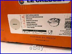 Le Creuset Signature 7¼ QT Cast-Iron Round Dutch Oven Meringue 28cm -7.25