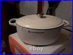 Le Creuset Signature 9.5 qt. Cast Iron Oval Dutch Oven in shiny white