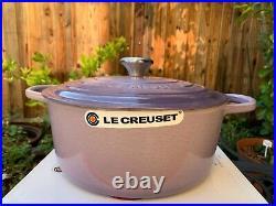 Le Creuset Signature Blue Bell Purple Provence Cast Iron Dutch Oven 7.25 Qt New