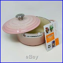 Le Creuset Signature Cast Iron 4 1/2-qt Round Dutch Oven, Shell Pink