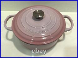 Le Creuset Signature Cast Iron 4.5qt Round Dutch Oven, Chiffon Pink