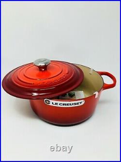 Le Creuset Signature Cast Iron 5 1/2-qt Round Dutch Oven, Cherry Red