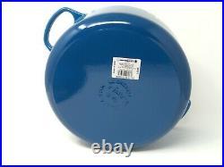 Le Creuset Signature Cast Iron 7 1/4-Qt Round Dutch Oven, Marseille Blue