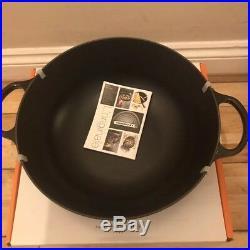 Le Creuset Signature Cast Iron Marmite Signature 32cm Soup Pot -Onyx Black NEW