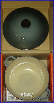 Le Creuset Signature Cast Iron Marmite Soup Pot, 4.1 L (4.5 QT), 10 1/4, Ocean