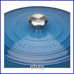Le Creuset Signature Cast Iron Round Casserole 2.75 Qt Marseille Blue