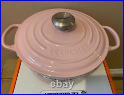 Le Creuset Signature Cast Iron Round Casserole 26cm Chiffon Pink (BNIB)