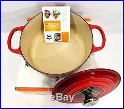 Le Creuset Signature Cast Iron Round Dutch Oven 4.5 Quart Cherry Red Tartan NEW