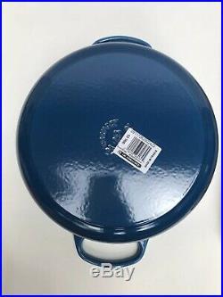 Le Creuset Signature Cast-Iron Round Dutch Oven Marseille Blue NEW, 5 1/2 Qt