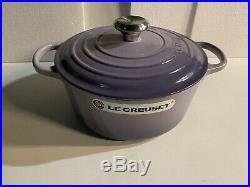 Le Creuset Signature Enameled Cast-Iron 5-1/2 Qt Round Dutch Oven, Plum color