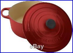 Le Creuset Signature Enameled Cast-Iron 7-1/4-Quart Round French Dutch Oven, New
