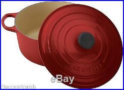 Le Creuset Signature Enameled Cast-Iron 7-1/4-Quart Round Oven, Cherry