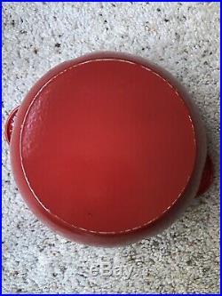 Le Creuset Tomato Cocotte Cast Dutch Oven 2.25 Qt Rare! -Excellent Condition