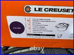 Le Creuset Ultra Violet Purple Cast Iron Dutch Oven 4.5 Qt 24 New