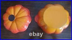 Le Creuset Vintage Orange Enameled 2qt Cast Iron Pumpkin Dutch Oven