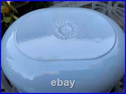 Le Creuset Vintage Oval Cast Iron Slate Blue Enzo Mari La Mama Cocotte 25 Rare