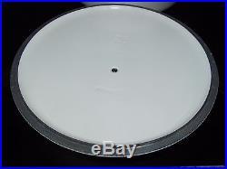 Le Creuset White 7-1/4 Qt (6.7 L) #28 Round Dutch Oven Cast Iron Rare