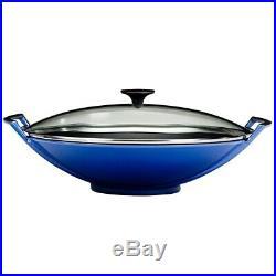 Le Creuset Wok 5 Qt-Cobalt (Blue)-Retails $400