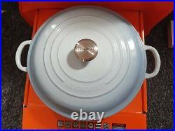 Le Creuset cast iron 26cm shallow casserole coastal blue