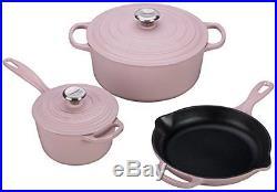 Le Creuset of America 5 Piece Signature Enameled Cast Iron Cookware Set