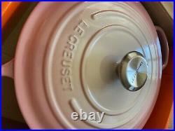 Le Creuset ombré pink SS knob signature dutch oven 7.25 qt