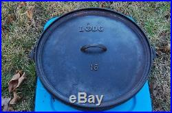 Lodge 16 Cast Iron Camp Oven discontinued dutch