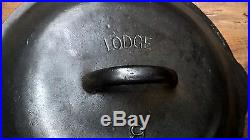 Lodge #9 arc logo cast iron skillet lid. VERY NICE CONDITION