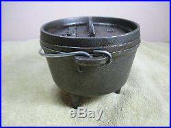 Lodge Discontinued HTF 5 Cast Iron Camp Oven Dutch Oven 5CO