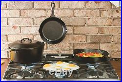 Lodge L5SK3 Pre-Seasoned Cast-Iron Skillet, 8 inch. Kitchen Pan Free Shipping