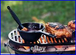 Lodge Pre-Seasoned Cast Iron Grill Outdoor Camping Hibachi Tailgating Patio