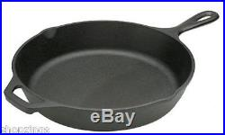 Lodge Seasoned Cast Iron Kitchen Skillet 10.25 Frying Pan Cooking Deep Black