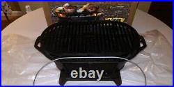 Lodge Sportsman's Cast Iron Grill Portable Made in USA Discontinued Excellent