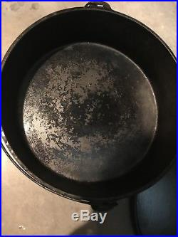 Lodge huge 16 Camp cast Iron Dutch Oven Discontinued model